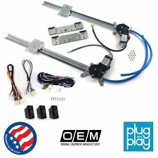 Ford Mustang 1964 - 1993  Power Window Regulator Kit w/ 3 LED Switches shelby v8