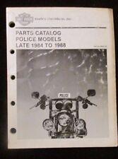 """Harley Davidson 99545-88 Police Models Late 1984-1988 Parts Catalog  #""""A"""" BOX"""