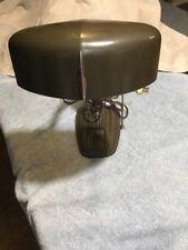 Antique Art Deco Base Desk Lamp Gooseneck Cast Iron Metal Industrial Vintage