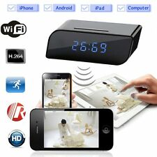 Wifi IP Wireless HD 720P Cam Hidden Motion IR Clock Network Security Camera