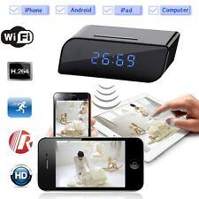 Wifi IP Wireless HD 720P Cam Hidden Motion IR Clock Network Security Camera