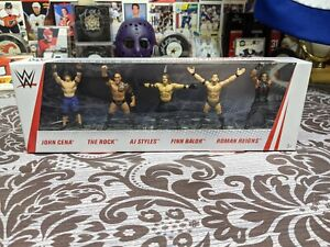 Wrestling Figures Collector Set of 5 mini WWE Mattel Collectibles