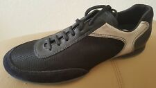 Prada Black Silver made in Italy Mens fashion Sneakers Size 12 Nwt $ 650