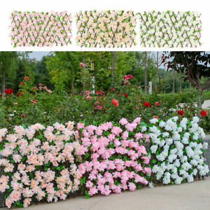 Artificial Hedge Flower Leaf Expanding Fence Wall Trellis Garden Balcony Cover