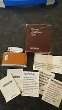 AUTHENTIC VINTAGE RONSON SENATOR CIGARETTE LIGHTER BOXED 50`s 60`s WITH MANUAL