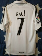 SIZE S REAL MADRID SPAIN 2005-2006 HOME FOOTBALL SHIRT JERSEY RAUL #7