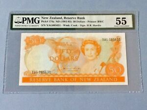 New Zealand 50 Dollars P-174a ND(1981-85)  PMG 55
