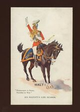 Military His Majesty's LIFE GUARDS Halt! artist Simpson c1900/10s? PPC G&P