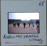Vintage 1960s Amateur Slide Photo Russian War Memorial Vienna Color Original Pic