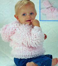 Knitting Pattern - Loopy Jacket & hat pattern in DK wool- fits 0-4 years cute