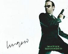 Hugo Weaving Signed The Matrix 10x8 Photo OnlineCOA