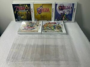 5 Box Protectors for N-3DS Video Games. Clear Display Cases