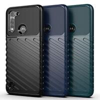 For Motorola Moto E 2020 G8 Power Lite Shockproof Heavy Soft Rubber Cover Case