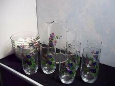Avon Wild Violet Pitcher / Glasses / Bowls #526