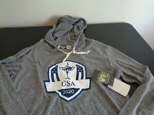 RYDER CUP Golf USA 2020 New Era LARGE Long Sleeve NEW Hooded Shirt FREE SHIPPING