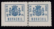 ESPAÑA - GUERRA CIVIL - MONACHIL - EDIFIL 3 - PAREJA - SELLOS DE CARIDAD