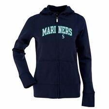 New Antigua Womens Seattle Mariners Applique Hooded Full-Zip Sweatshirt Medium