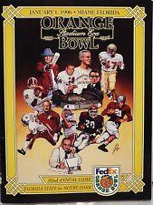 ORANGE BOWL ORANGE BOWL PROGRAM JANUARY 1, 1996 FLORIDA STATE VS NOTRE DAME