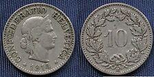 MONETA COIN MONNAIE HELVETIA SUISSE SWITZERLAND SVIZZERA - 10 RAPPEN 1914 -