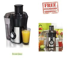 Hamilton Beach Stainless Steel Big Mouth Juice Extractor 67608 Silver, Black