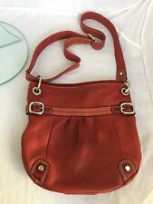 Fossil Vintage Red distressed Crossbody handbag bag womens