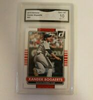 2015 Donruss Xander Bogaerts Base #62 Boston Red Sox GMA 10