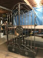 Tuscan Old World Iron Arched Scroll Garden/Wine Cellar Gate 4 Ft. Wide