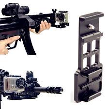 Cantilever Picatinny Weaver Gun Mount Plate Fr 20mm Rail GoPro Hero 4 3 + Camera