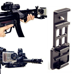 Cantilever Picatinny Weaver Gun Mount Adapter For 20mm Rail GoPro HD Hero 5 4 3+