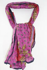 LADIES PINK FLORAL INSPIRED UNIQUE STATEMENT SCARF HIPPY THEME(MS26)