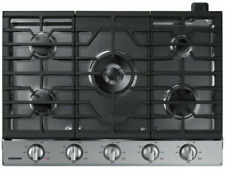 Samsung 30-in 5 Burners Stainless Steel Gas Cooktop Blue Led knobs Na30N6555Ts