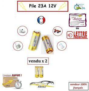 batterie/pile 23A 12v télécommande auto, portail Alarme etc... x 2