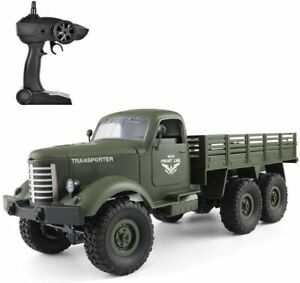 RC Military Truck 1/16 Scale 2.4GHz RC 6WD Military Truck Model Car Toy Vehicle