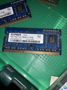Elpida EBJ40UG8BBU0-GN-F 4GB 1Rx8 SODIMM PC3-12800S-11-10-B2 DDR3 Laptop Memory