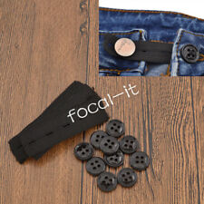 10Pcs Jeans Skirts Pants Waist Elastic Extension Button For Pregnant Obesity