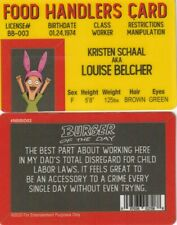 Hamburger Burger FOOD HANDLER Louise  fake I.D. card Drivers License