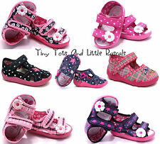 Girls Sandals Nursery Slippers Shoes Leather Antibacterial Insole Size 3 -9 New!