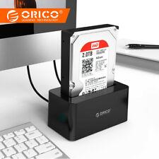 USB 3.0 & eSATA Docking Station for 2.5 & 3.5 HDD SSD Enclosure 12V Power Supply