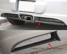 2006 2008 Porsche Cayman 987.1 Spear Style Rear Carbon Fiber Diffuser Overlay