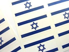 Mini Sticker Pack, Self-Adhesive Israel Flag Labels, FR148
