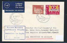 62411) LH  FF Amsterdam - Los Angeles USA 2.4.69, Brief ab Schweiz