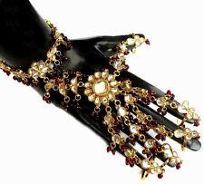 Indian Wedding Saree Jewelry Partywear Kundan Bracelet 5-Rings Panja 1Pc #215