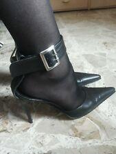 sandali in vera pelle donna n° 38 cinghia alla caviglia tacco alto! belli e sexy