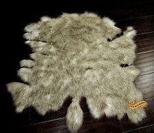 Shaggy Plush Faux Fur Buffalo Pelt Rug White With Brown Tips