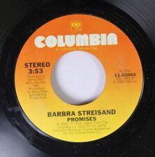 Pop 45 Barbra Streisand - Promises / Make It Like A Memory On Columbia