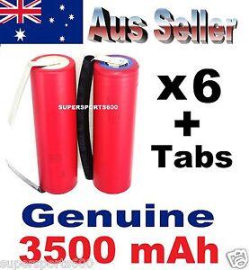6x Panasonic NCR 18650GA 3500mAh + Tabs Lithium Li-Ion NCR18650GA batteries