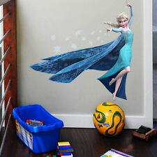 Hot Snow Queen Elsa Wall Sticker Viny cartoon mural decal home decor 45*60 cm