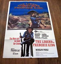 "RARE The Legend of Frenchie King -ORIGINAL-1971-1-SHEET-Movie-Poster 39+""x27"""