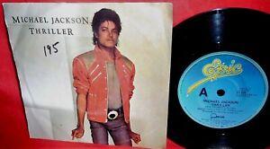 MICHAEL JACKSON Thriller 45rpm 7' + PS 1983 AUSTRALIA MINT-