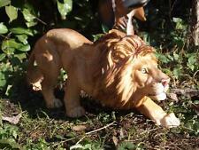 Löwe schleichend  Figur Wildtiere Gartendeko lebensecht Afrika Raubkatze